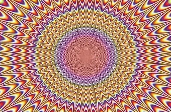 Ilusão de ótica - Circulo Móvel