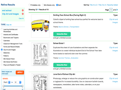 3 Handy Resources of Clip Arts to Use for End of School Year Activities