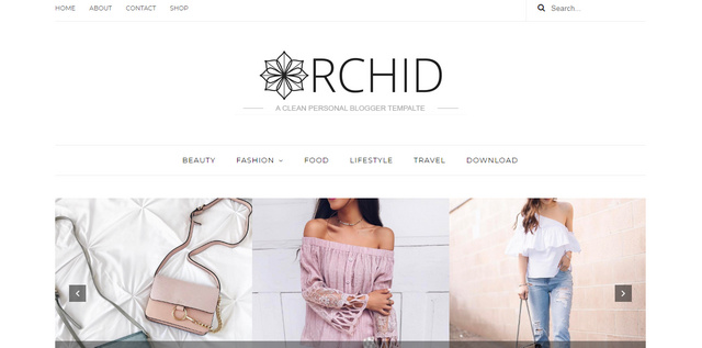 Orchid Responsive Blogger Templates