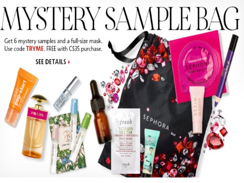 Sephora Free Mystery Sample Bag