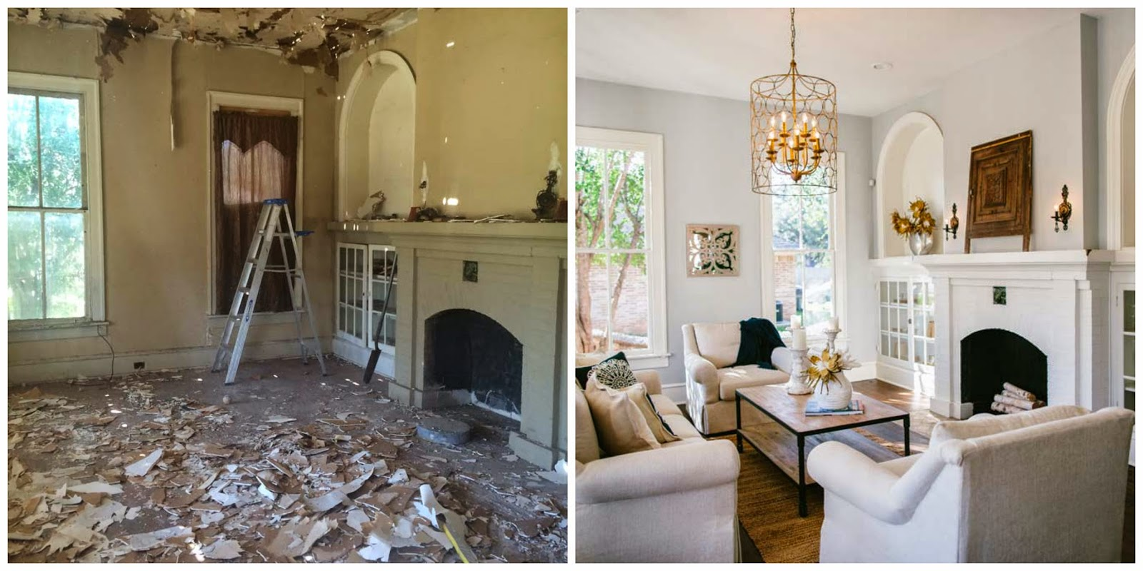 Before and After Southern Fixer Upper - Thistlewood Farm |Fixer Upper Before And After