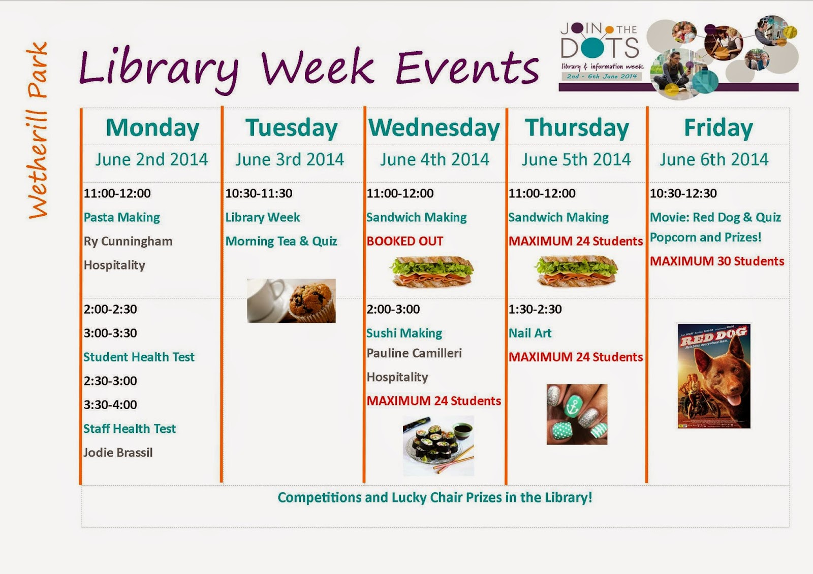 Wetherill Park College Library Join Us For Library Week