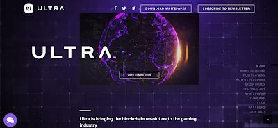 مشروع منصة Ultra للصناعة الألعاب و إعتماد تقنية البلوكشين
