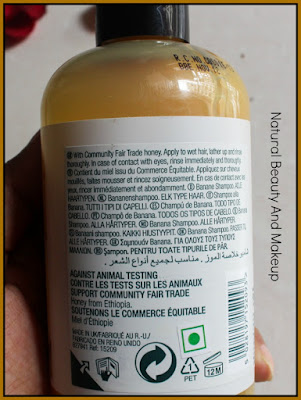 The Body Shop Banana Shampoo// Review, Price and Other Details on Natural Beauty And Makeup blog