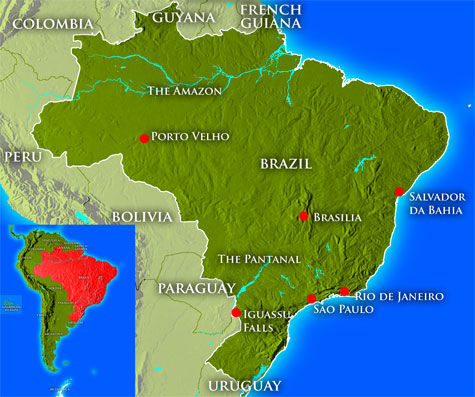The geography economy and society of brazil a latin american country