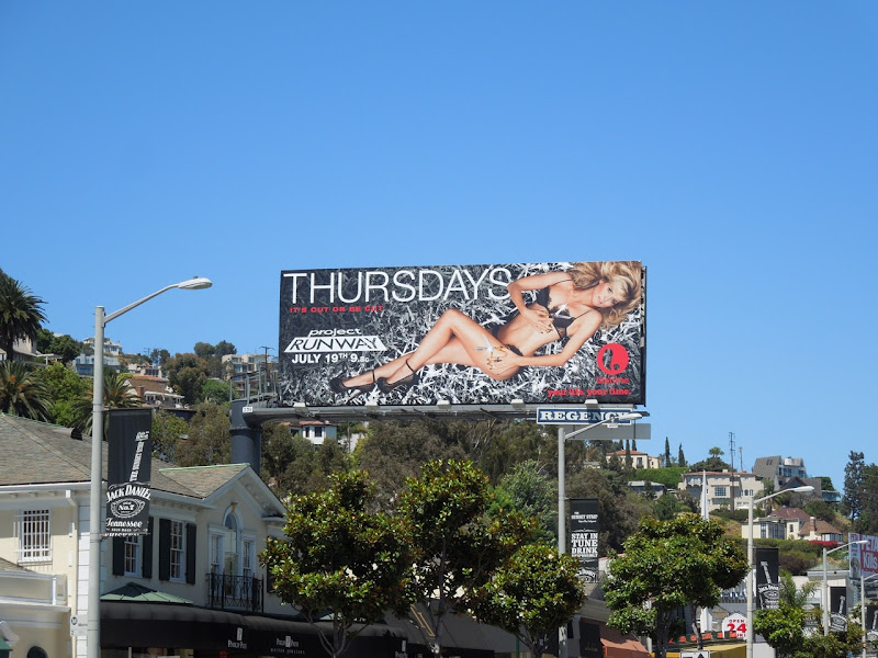 Project Runway season 10 billboard Sunset Plaza