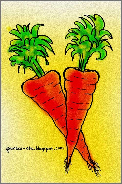 Gambar Sayuran Wortel : gambar, sayuran, wortel, Mewarnai, Gambar, Sayur, Wortel, Contoh
