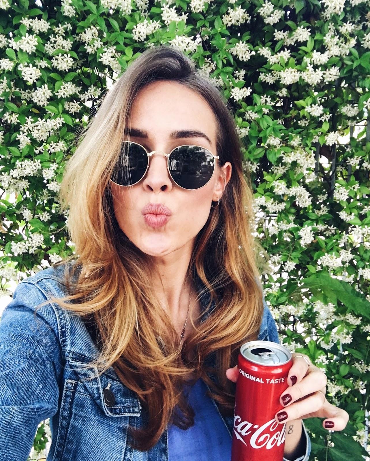 ray ban round folding sunglasses coca cola can