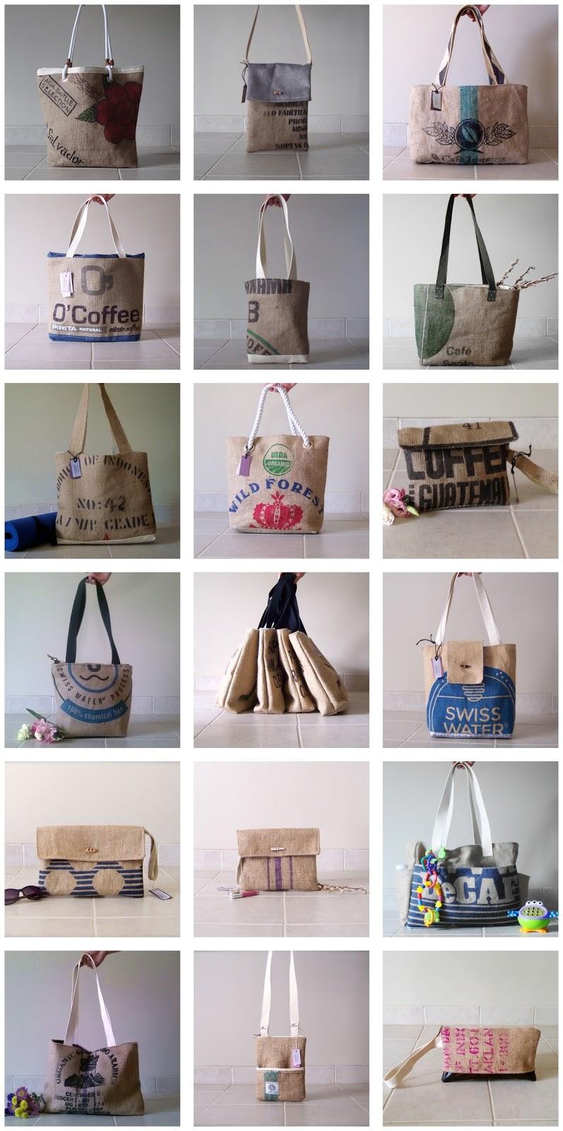 Grounds Burlap Bag Collection // linaandvi.blogspot.com // https://www.etsy.com/shop/LinaandVi