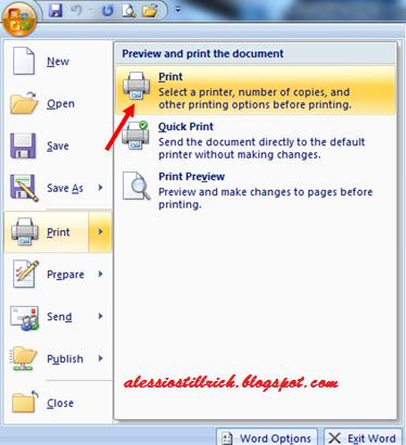 Cara Print Dokumen Tapi Beda Halaman Sekaligus di Word 2007