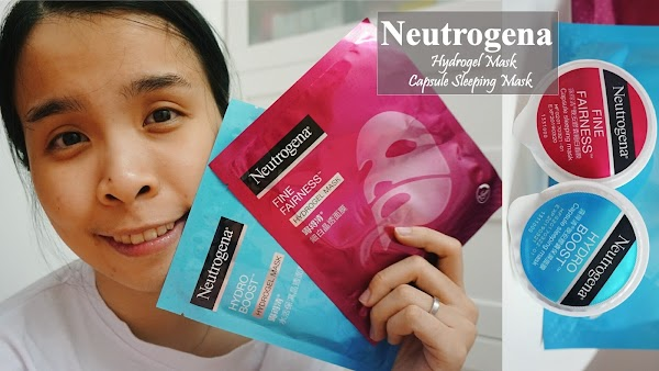 Trying out Neutrogena new Hydrogel and Capsule Sleeping Mask!!