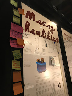 Messy Realities exhibition with visitor comments