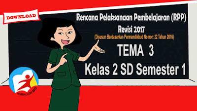 RPP Tematik Kelas 2 SD Tema 3 Kurikulum 2013 Revisi 2017 Semester 1