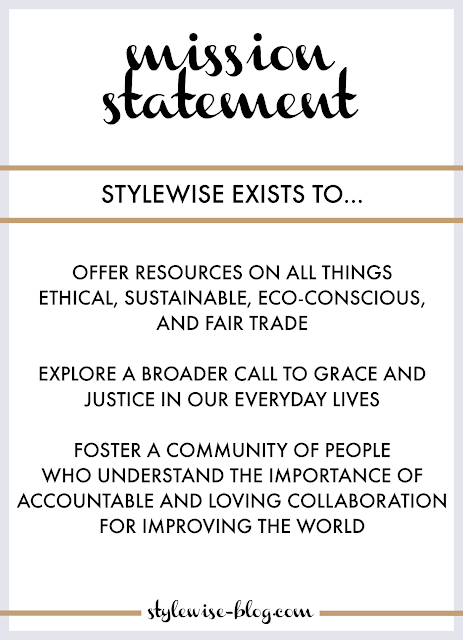 stylewise ethical blog mission statement