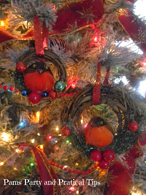 Mini wreath ornament with bird in a nest