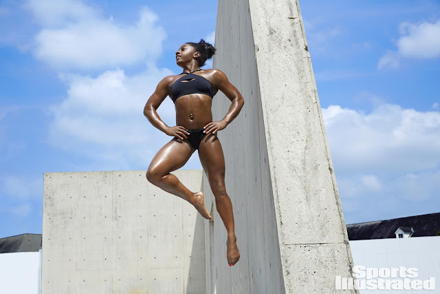 Η Αμερικανίδα αθλήτρια Simone Biles φωτογραφήθηκε για το Sports Illustrated