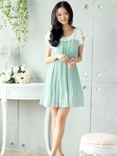 mini dress korea style terbaru