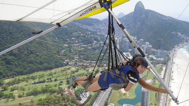 Hang Gliding in Sao Conrado, Rio de Janeiro, Brazil
