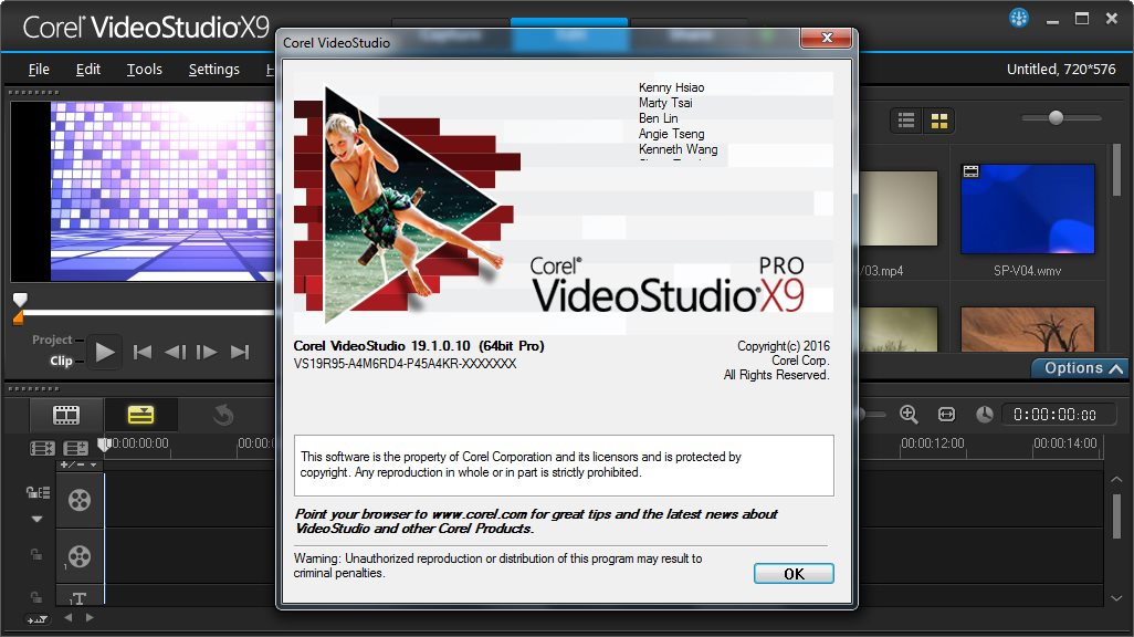 Corel Videostudio Pro X9 free. download full Version With Crack