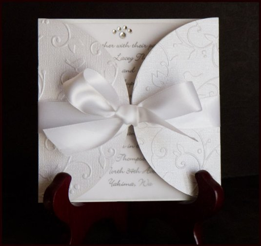 Embossed Card Wedding Invitation This Is The Most Simple Idea But How Elegant I Love It You Can Get All Sorts Of Diffe Patterns And