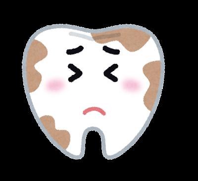 汚れた歯のキャラクター