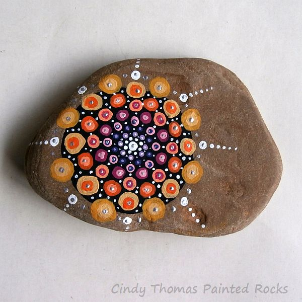 Cindy Thomas Mandala Painted Stone 2