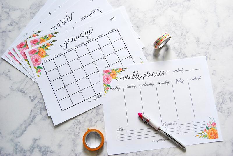 Free printable 2017 calendar & plan