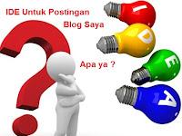 Cara mencari ide untuk postingan blog