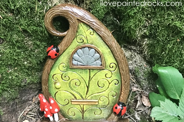 fairy door as part of hide and seek rock game