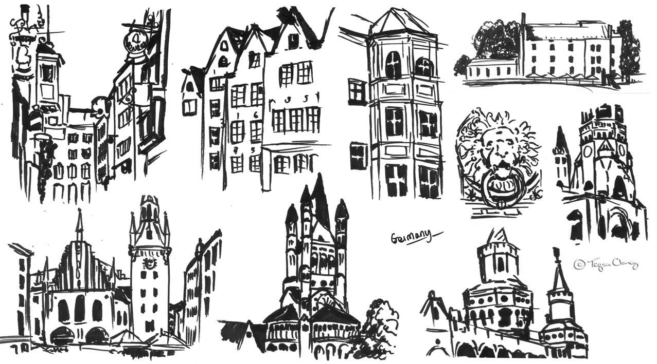 TEGAN CLANCY: More City Marker Sketches