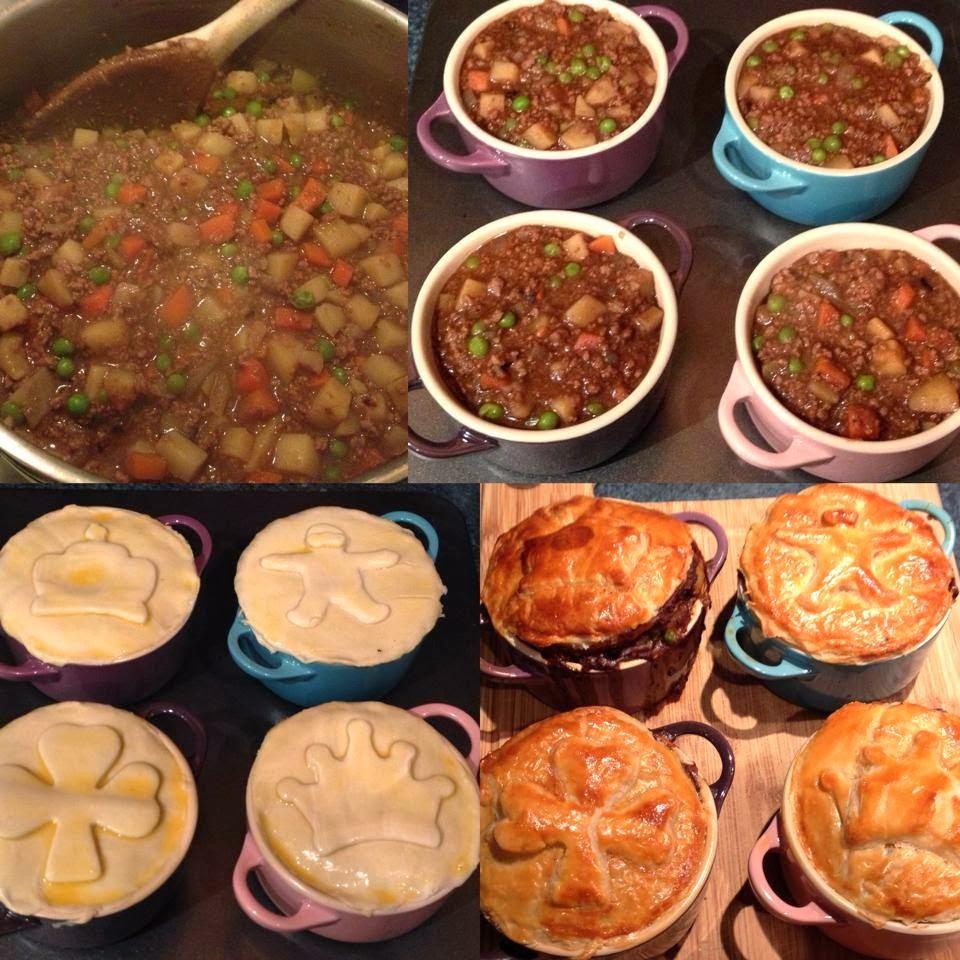 Mince & Potato Pie