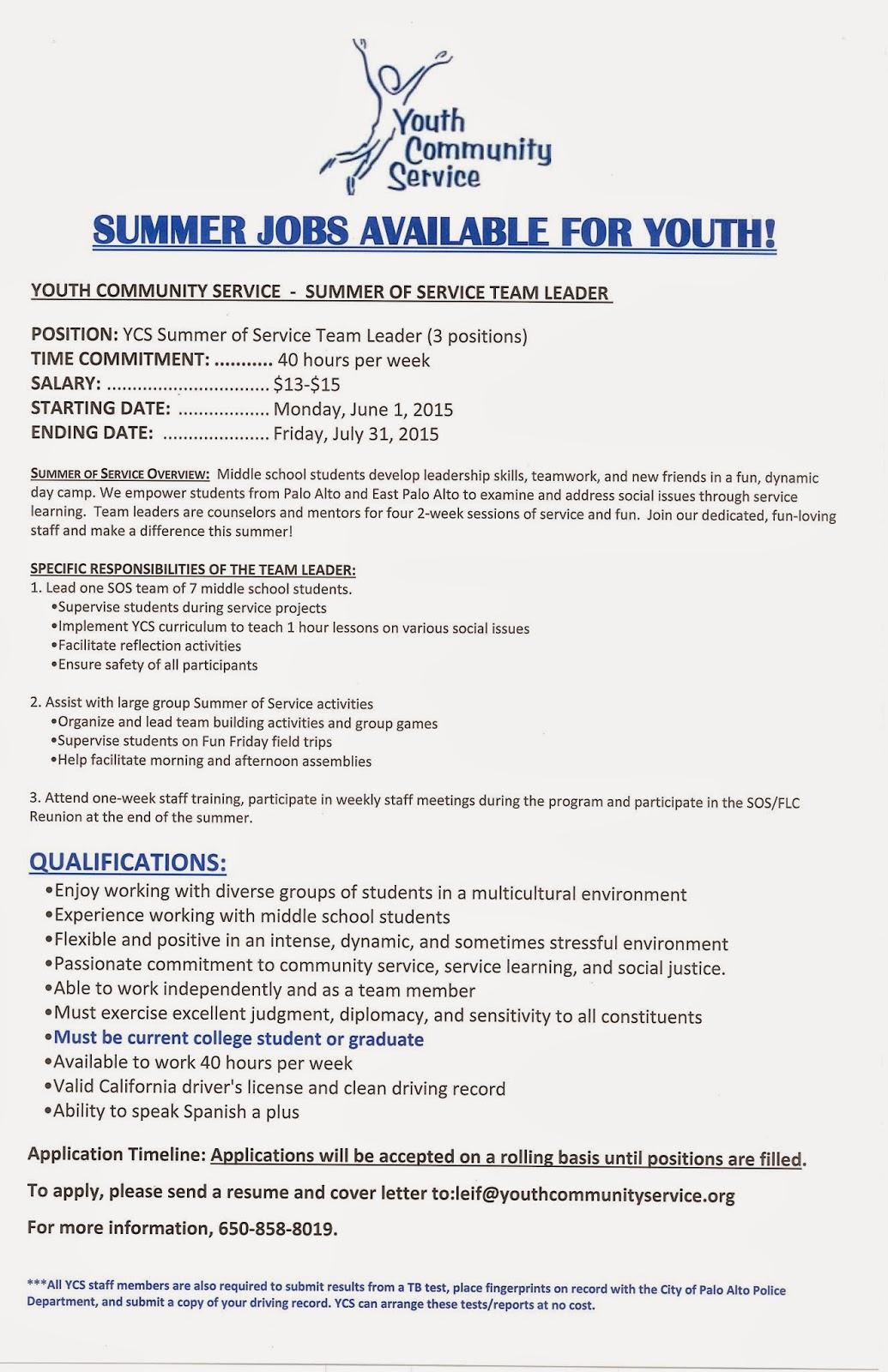 Shinnyo-en USA Head Temple : Summer Job for Youths at YCS