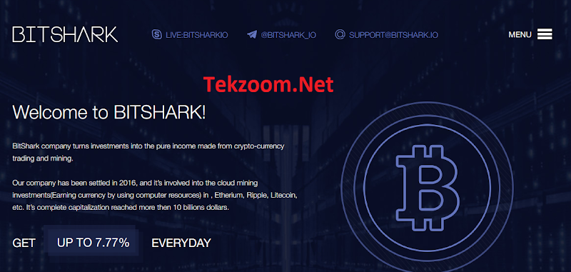 [SCAM] Review Bitshark - Lãi 7.77% hằng ngày cho 20 ngày - Đầu tư tối thiểu 20$ - Thanh toán tức thì