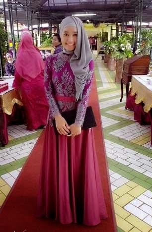 12 Gambar Model Baju Muslim Brokat Terpopuler 2017