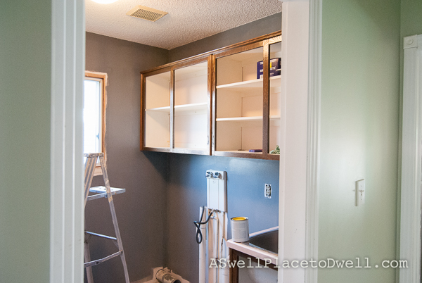 Laundry Room In Progress // ASwellPlacetoDwell.com