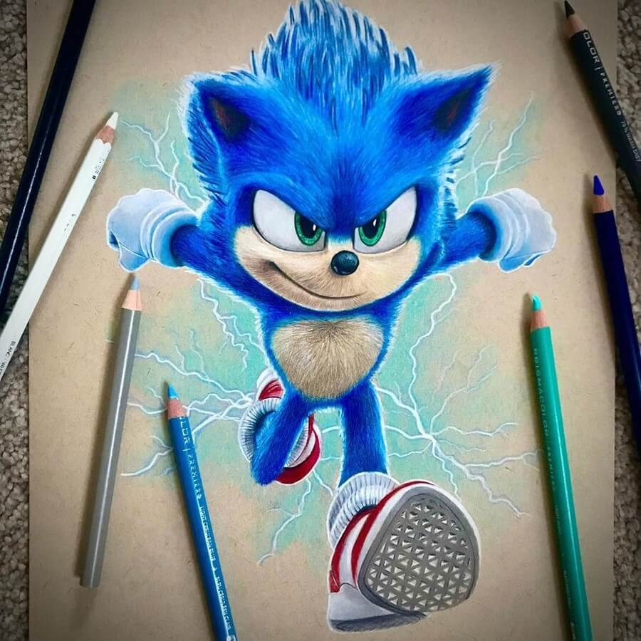10-Sonic-The-Hedgehog-Chris-Pencil-Drawings-www-designstack-co
