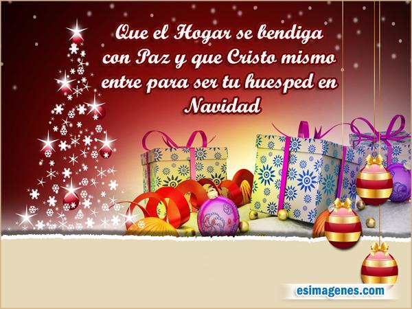 imagenes feliz navidad wasap Bienvenido Cristo mi hogar Tarjeta con frase y regalos