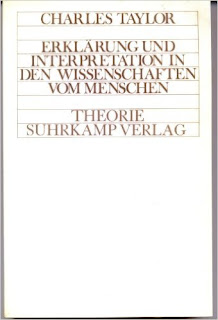 Erklärung und interpretation in den wissenschften vom menschen /Charles Taylo