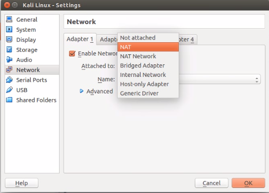 How to set and run NAT Virtual Network on CentOS,Kali Linux