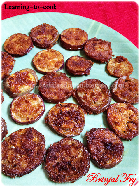Brinjal fry - Learning-to-cook