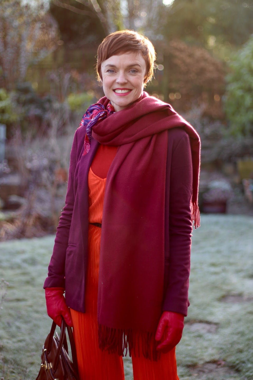Fire & Ice | Layering warm tones, orange, red and pink | Fake Fabulous