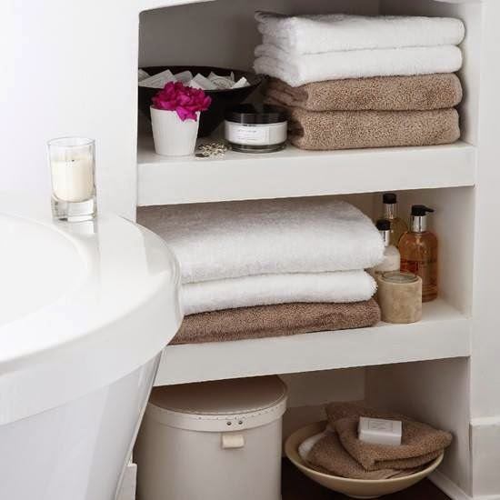 bathroom storage ideas | storage ideas for towel, soap