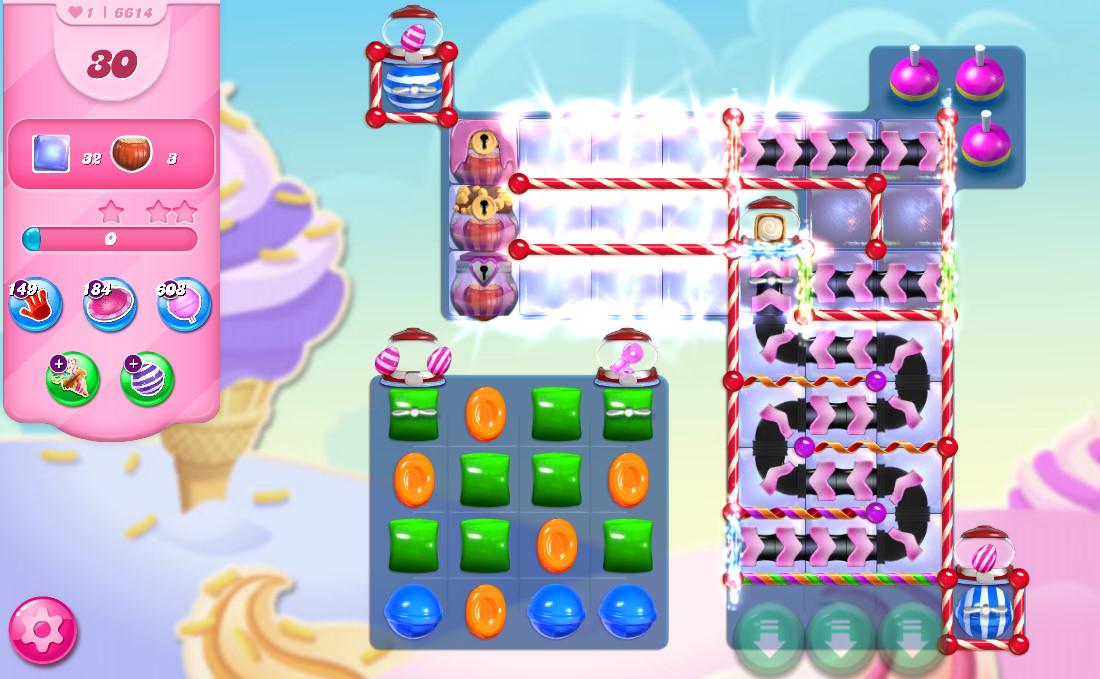 Candy Crush Saga level 6614