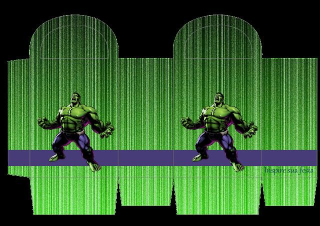 Cajas de Fiesta del Increíble Hulk para imprimir gratis.