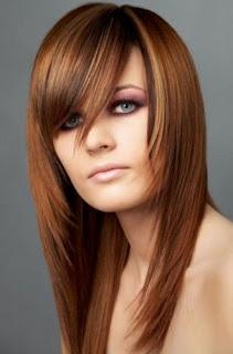 model rambut panjang untuk wanita gemuk