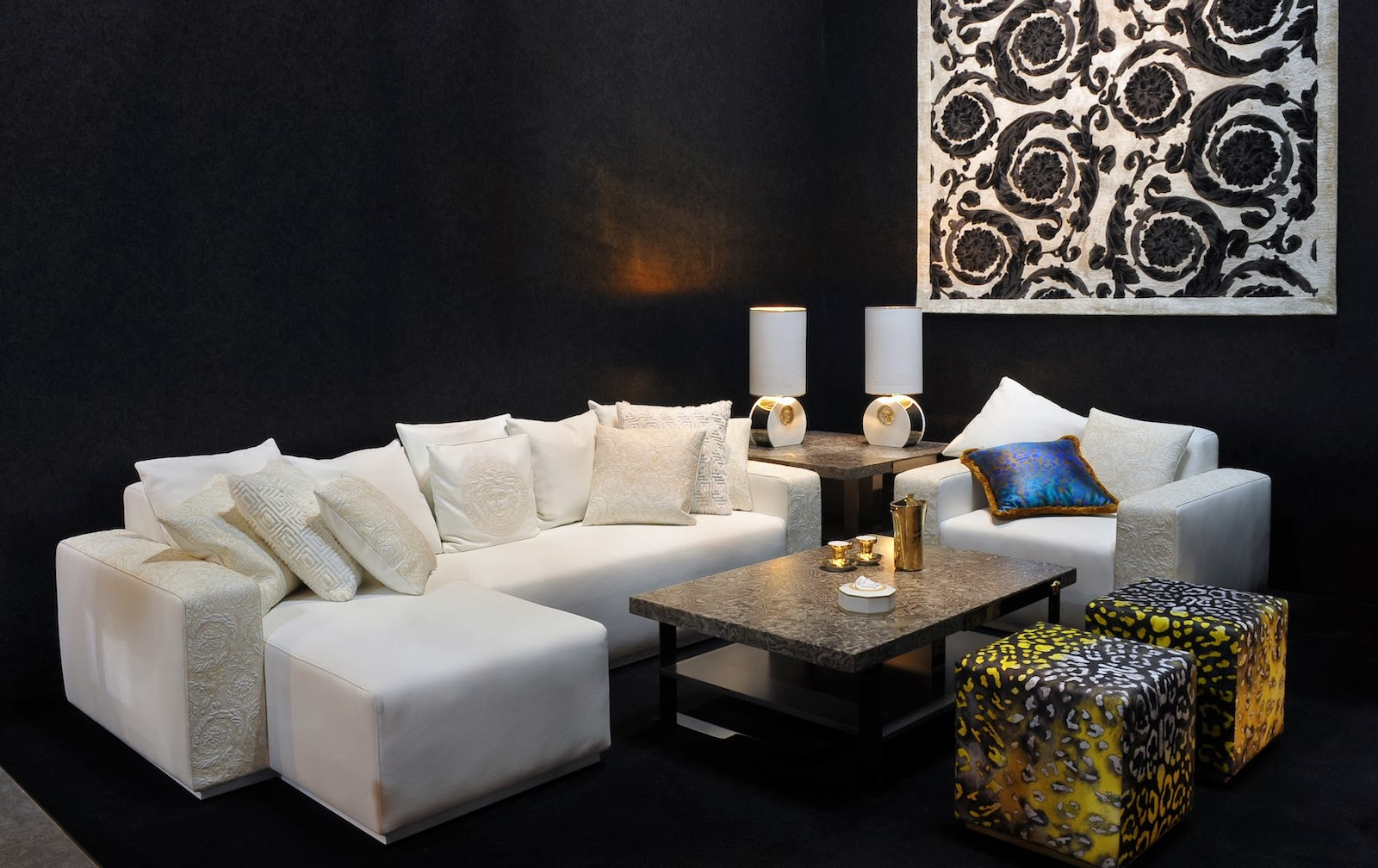 Art Sofa Namestaj Leather Power Reclining Home Theater Seating Luxury Life Design Versace Collection