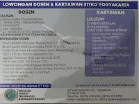 Lowongan Dosen dan Karyawan Sekolah Tinggi Teknologi Kedirgantaraan (STTKD) Yogyakarta