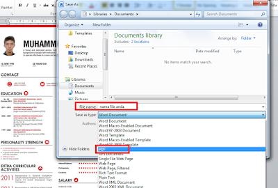 Cara Mudah Save atau Menyimpan Office Word Menjadi File PDF