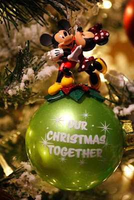 My Favourite Christmas Tree Ornament - Minnie and Mickey Our First Christmas Together