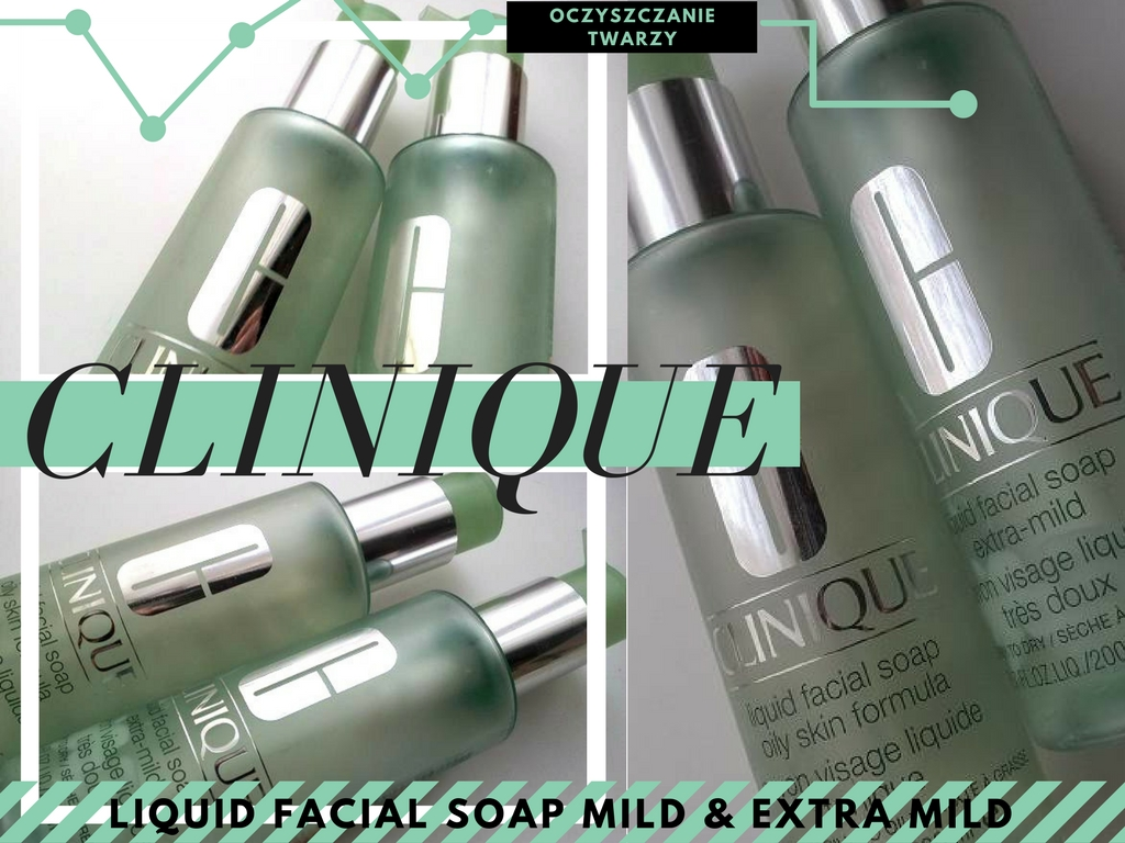 CLINIQUE MYDŁA W PŁYNIE DO TWARZY: LIQUID FACIAL SOAP OILY SKIN FORMULA FORMULA ORAZ LIQUID FACIAL SOAP EXTRA MILD
